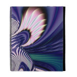 Pink and Blue Guardian Angel Fractal iPad Folio Cases