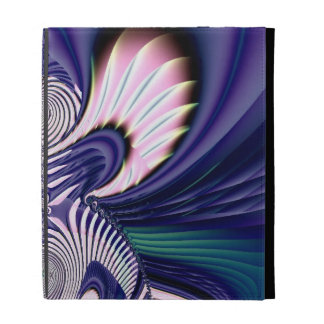 Pink and Blue Guardian Angel Fractal iPad Folio Case