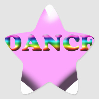 Pink and Blue Heart DANCE Gifts for Dancers! Star Stickers