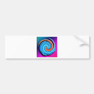 Pink and Blue Hurricane Swirl Bumper Sticker
