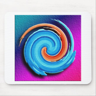 Pink and Blue Hurricane Swirl Mouse Pad