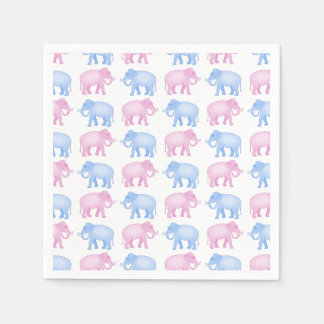 Pink and Blue Indian Elephant Pattern Napkin