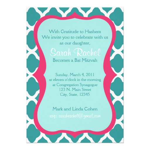 Pink and Blue Invite