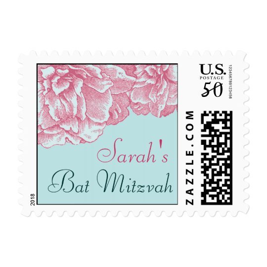 Pink and Blue Invite - stamp