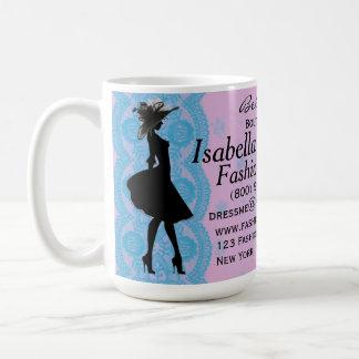 Pink and Blue Lace Fashion Stylist Coffee Mug