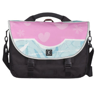 Pink and Blue Computer Bag