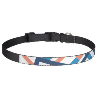 Pink and Blue Line Dog Collar