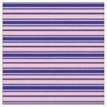 [ Thumbnail: Pink and Blue Lines Fabric ]