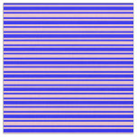 [ Thumbnail: Pink and Blue Lines Pattern Fabric ]