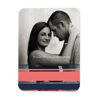 Pink and Blue Modern Stripes Magnet