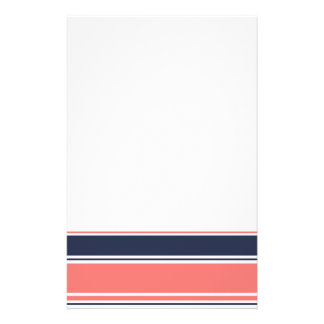 Pink and Blue Modern Stripes Stationery