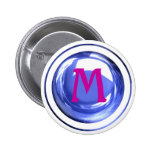 Pink and Blue Monogrammed Letter Buttons