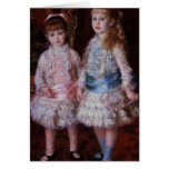 Pink and Blue or, The Cahen d'Anvers Girls, 1881 Greeting Card