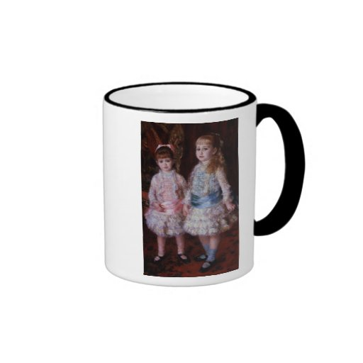 Pink and Blue or, The Cahen d'Anvers Girls, 1881 Ringer Coffee Mug
