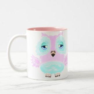 Pink and Blue Owl Mug
