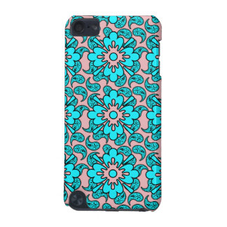 Pink And Blue Paisley iPod Case