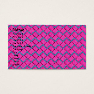 Pink and Blue Paper Zig Zag Business Card