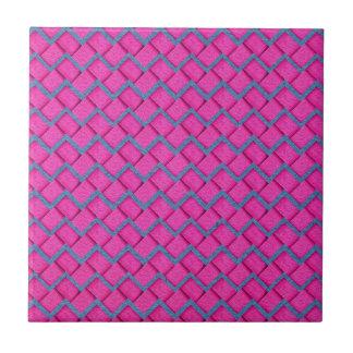 Pink and Blue Paper Zig Zag Ceramic Tile
