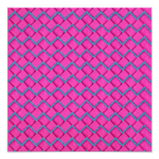 Pink and Blue Paper Zig Zag Photo Print