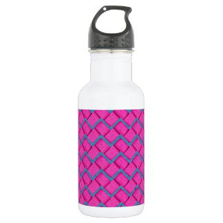 Pink and Blue Paper Zig Zag Stainless Steel Water Bottle