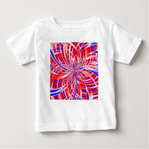 pink and blue pattern baby T-Shirt