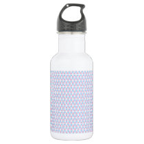 Pink and Blue Pattern Stainless Steel Water Bottle