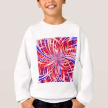 pink and blue pattern sweatshirt