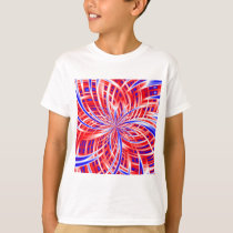 pink and blue pattern T-Shirt