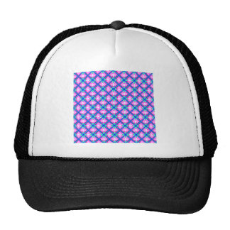 Pink and Blue Pattern Trucker Hat
