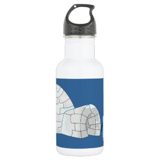 Pink and Blue penguins at igloo Stainless Steel Water Bottle