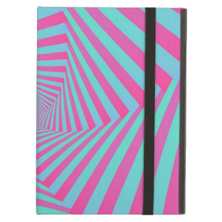 Pink and Blue Pentagon Spiral Case For iPad Air