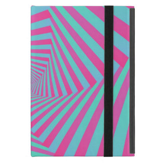 Pink and Blue Pentagon Spiral iPad Case