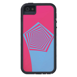 Pink and Blue Pentagon Spiral iPhone 5 Case