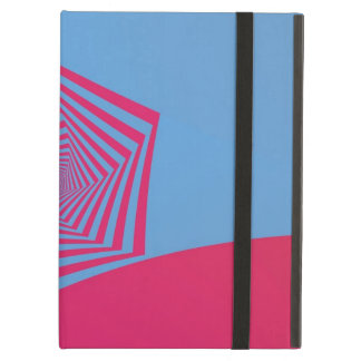 Pink and Blue Pentagon Spiral Powis iCase for iPad iPad Air Cover
