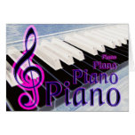 Pink and Blue Piano Card