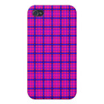 Pink and Blue Plaid Case For iPhone 4