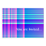 Pink and Blue Plaid Checkered Card