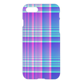 Pink and Blue Plaid Checkered iPhone 8/7 Case