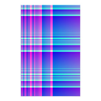 Pink and Blue Plaid Checkered Stationery