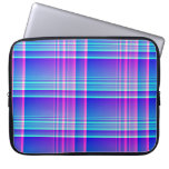 Pink and Blue Plaid Computer Sleeve