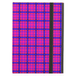 Pink and Blue Plaid iPad Cover