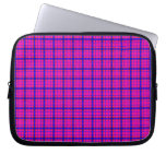 Pink and Blue Plaid Laptop Sleeves
