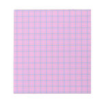 Pink and Blue Plaid Memo Note Pads