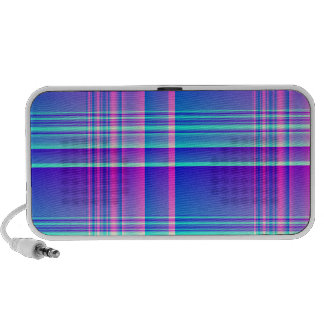 Pink and Blue Plaid Notebook Speaker