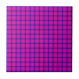 Pink and Blue Plaid Tile