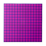 Pink and Blue Plaid Tiles