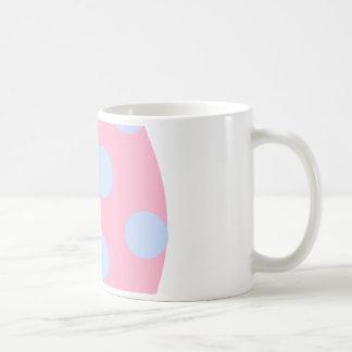 Pink and Blue Polka Dot Easter Egg Coffee Mug
