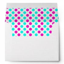 Pink and Blue Polka Dots Envelope