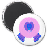 Pink and Blue Pom Pom Pal Magnet