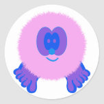 Pink and Blue Pom Pom Pal Stickers